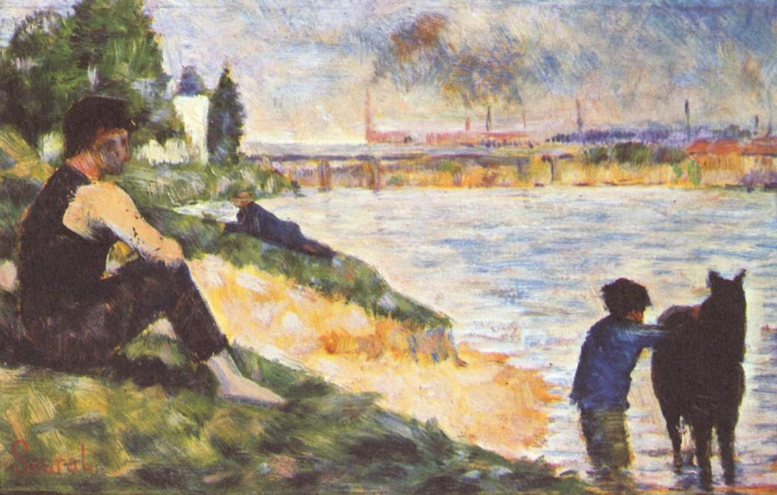 famous painting Boy with horse of Georges Pierre Seurat