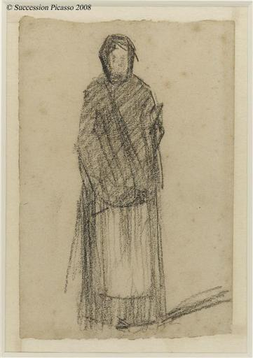 famous painting Woman standing of Georges Pierre Seurat