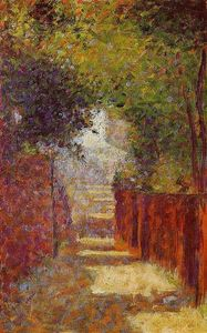 Georges Pierre Seurat - Rue St. Vincent in Spring