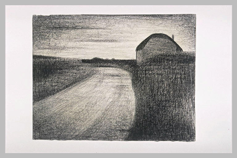 famous painting On the road of Georges Pierre Seurat