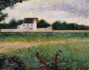 Georges Pierre Seurat - Landscape in the Ile-de-France