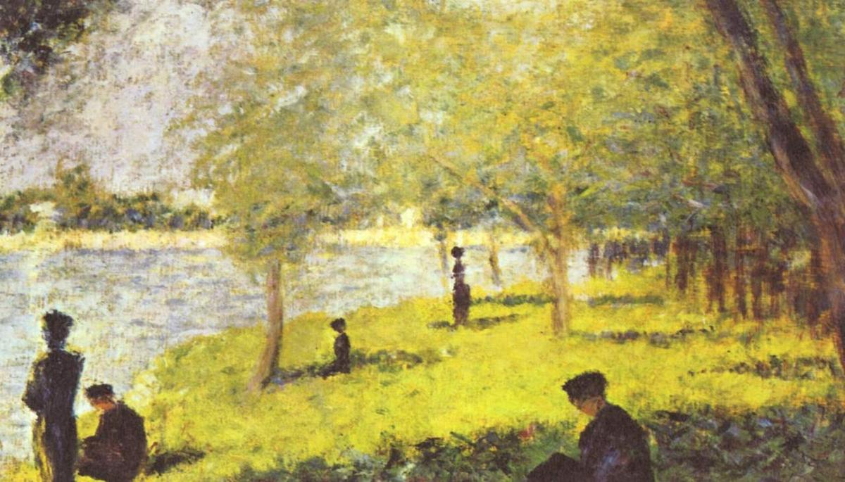 famous painting Study with Figures. Study for 'La Grande Jatte' of Georges Pierre Seurat