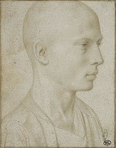 Gerard David - Study of a Bust of Yyoung Boy with Shaved Head