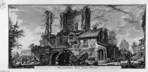 Giovanni Battista Piranesi - Perspective of the front of the Castle Ruins
