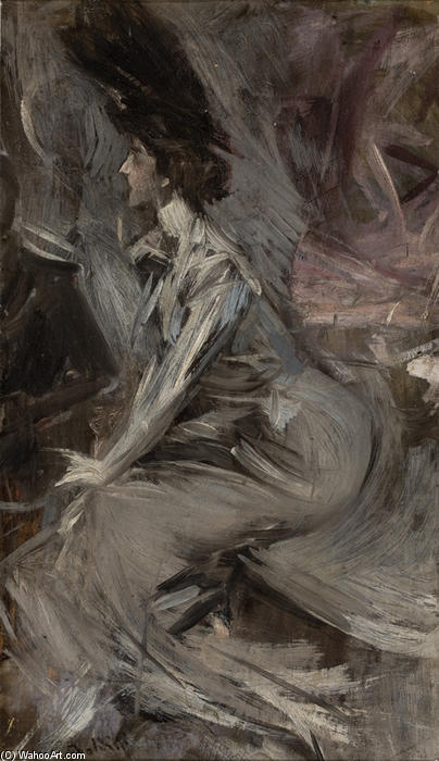 famous painting Sitting Lady (The Talk) of Giovanni Boldini