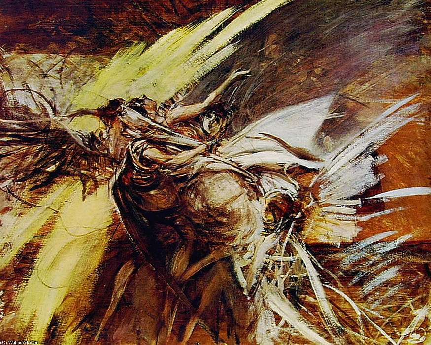 famous painting Angels of Giovanni Boldini