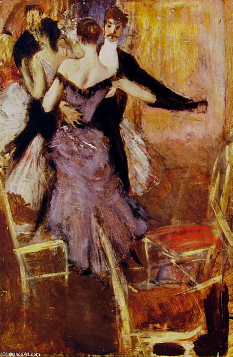 famous painting Ballerina in Mauve of Giovanni Boldini