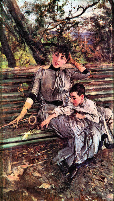 famous painting In the Garden of Giovanni Boldini
