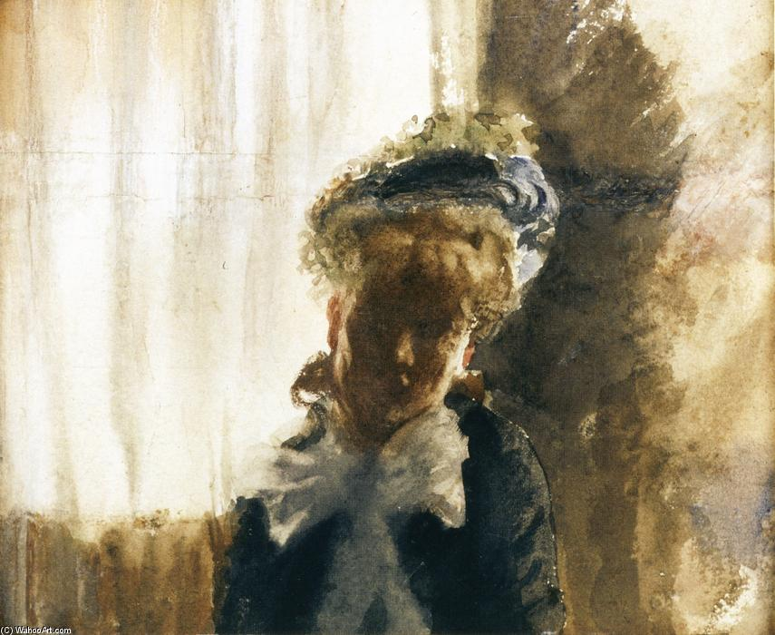 famous painting Face of Giuseppe De Nittis
