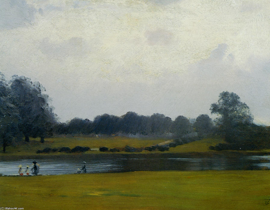 famous painting The Serpentine Hyde Park of Giuseppe De Nittis