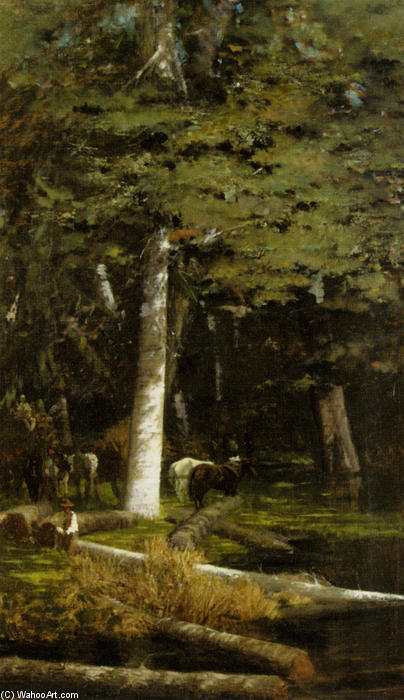 famous painting In the Forest of Giuseppe De Nittis