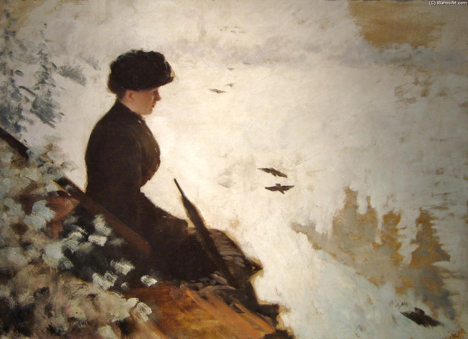 famous painting Snow Effect of Giuseppe De Nittis