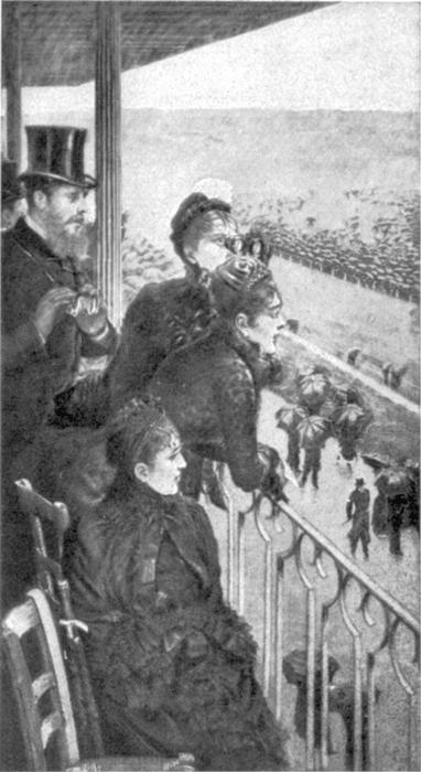 famous painting At the Tribune during the race of Giuseppe De Nittis