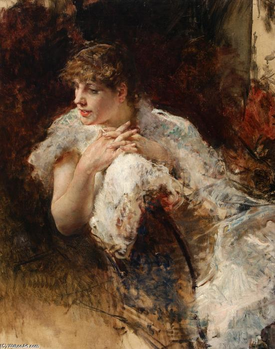 famous painting A Lady from Naples of Giuseppe De Nittis