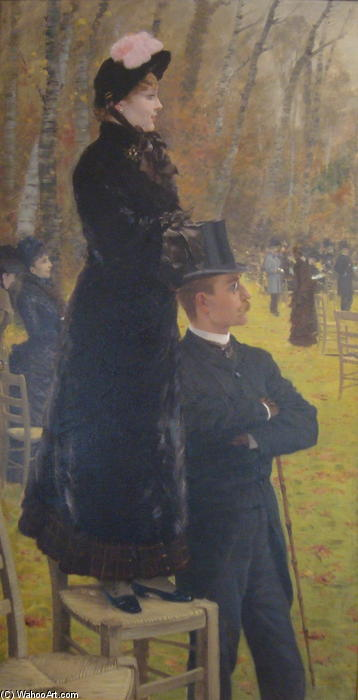 famous painting The Races at Auteuil, Paris of Giuseppe De Nittis