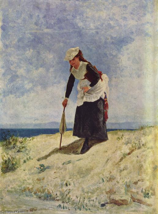 famous painting Woman on the Beach of Giuseppe De Nittis