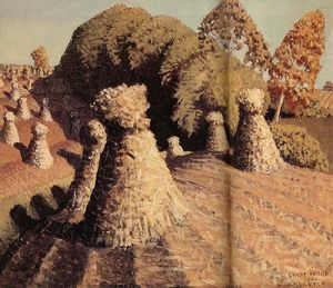 Grant Wood - Iowa's corn field