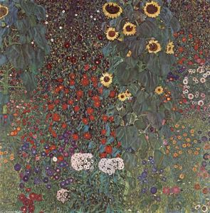 Gustav Klimt - Country Garden with Sunflowers