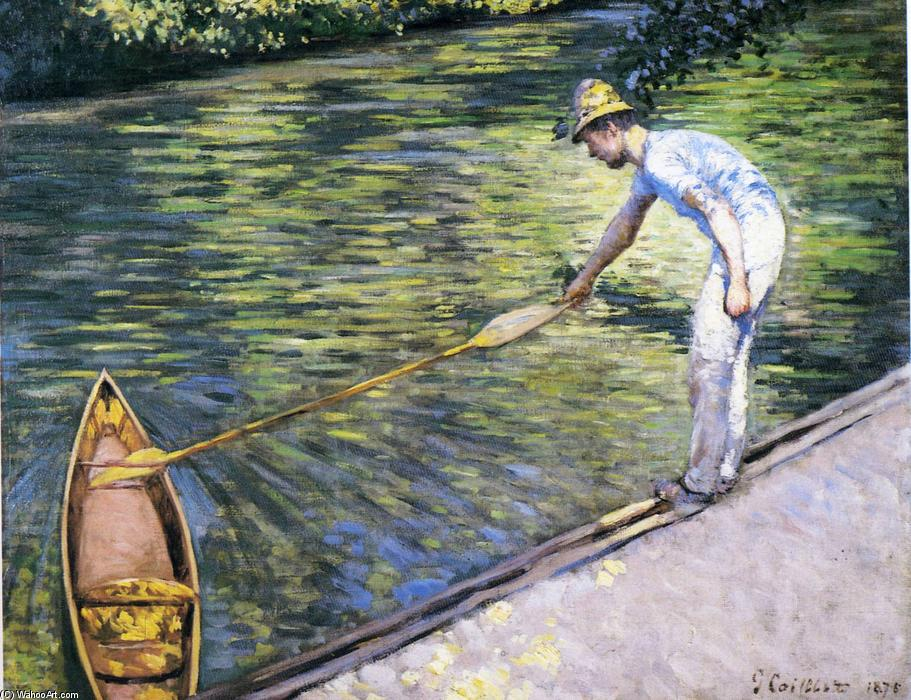 famous painting Boating on the Yerres of Gustave Caillebotte
