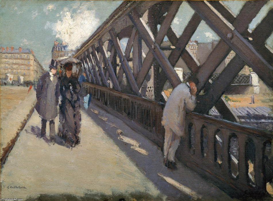 famous painting Study for Le Pont de l'Europe of Gustave Caillebotte