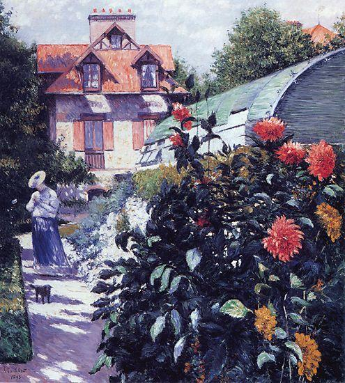 famous painting The Garden at Petit Gennevilliers of Gustave Caillebotte