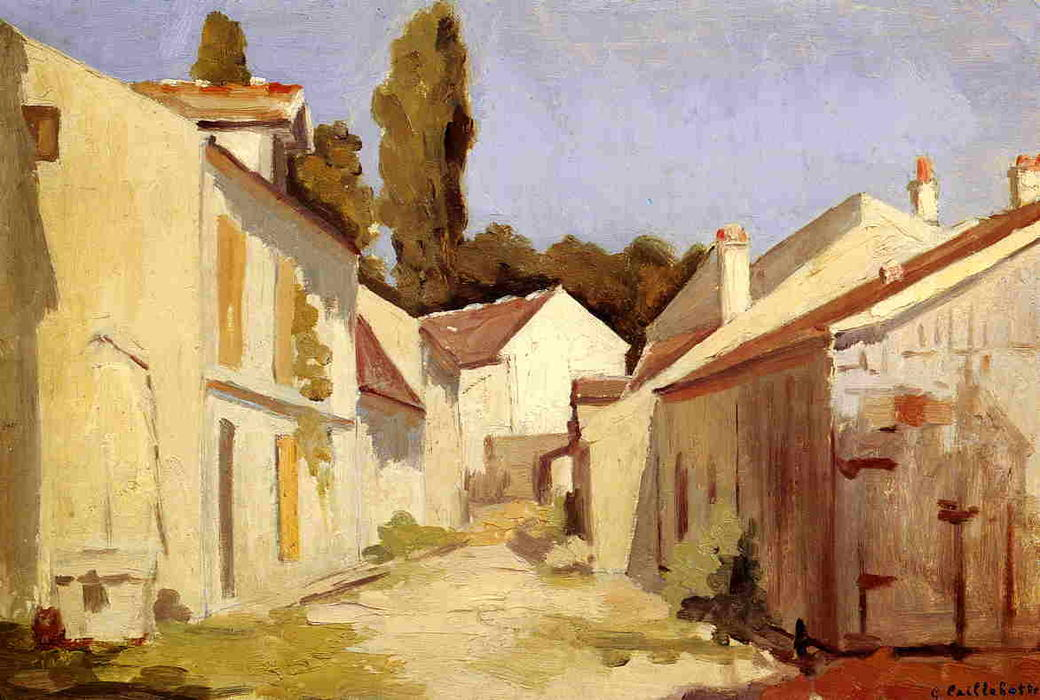 famous painting Le Clos des Abbesses of Gustave Caillebotte