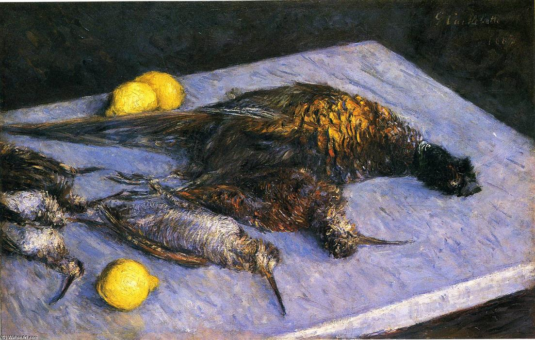 famous painting Game Birds And Lemons of Gustave Caillebotte
