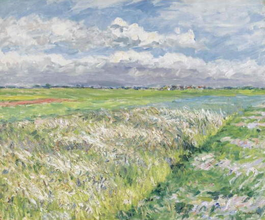 famous painting Fields, Plain of Gennevilliers of Gustave Caillebotte