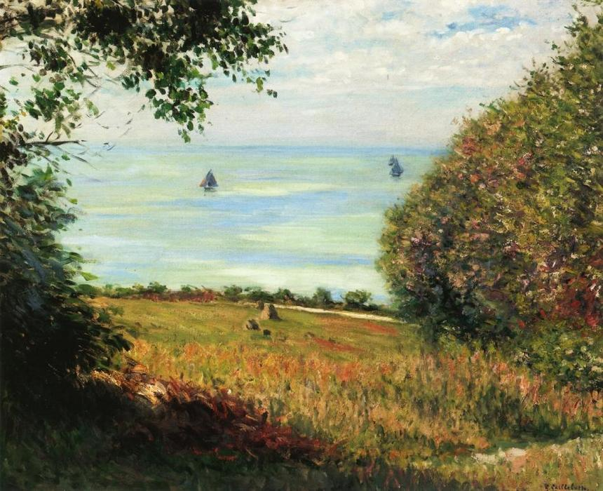 famous painting View of the Sea from Villerville of Gustave Caillebotte