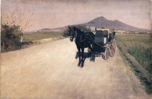 Gustave Caillebotte - A Road in Naples