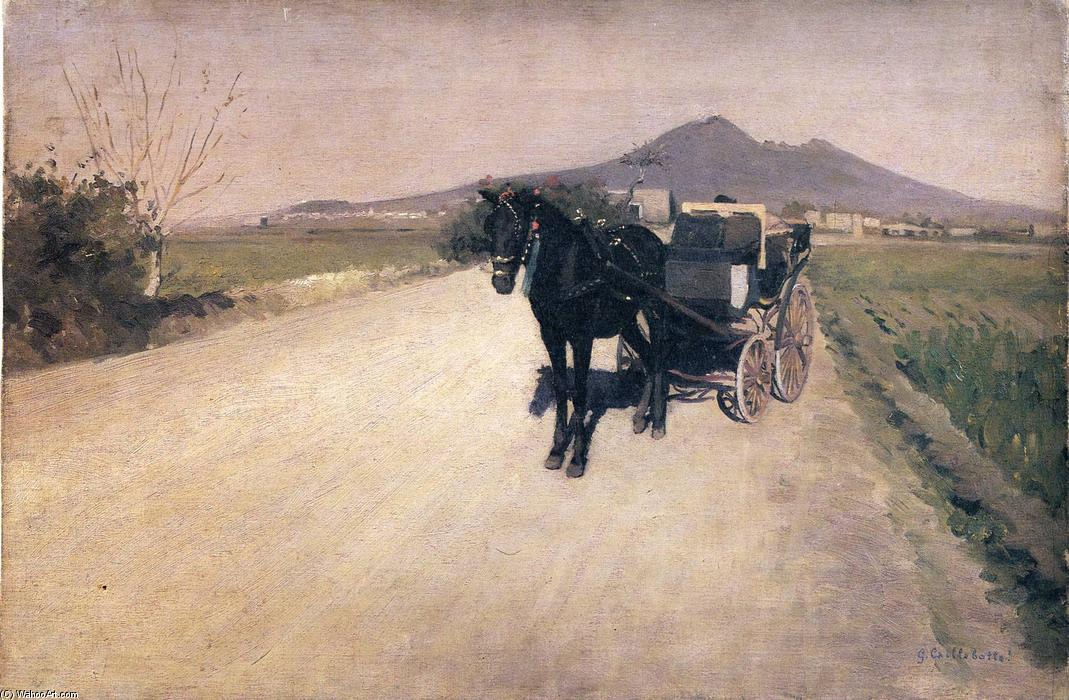 famous painting A Road in Naples of Gustave Caillebotte