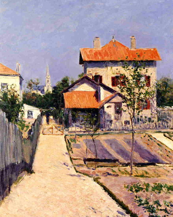 famous painting The Artist's House at Yerres of Gustave Caillebotte