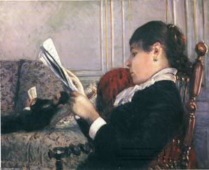 Gustave Caillebotte - Interior, Woman Reading
