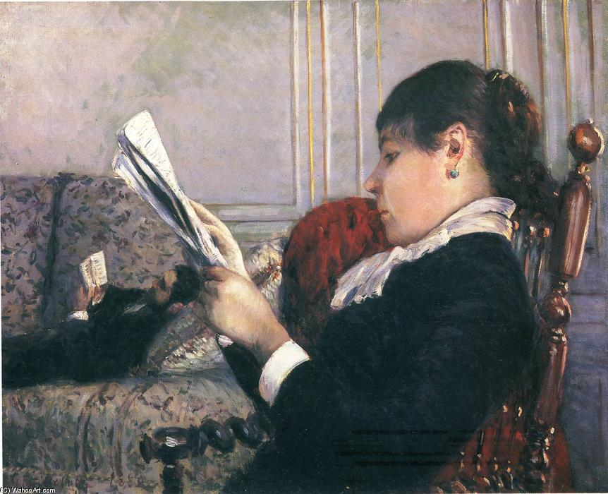 famous painting Interior, Woman Reading of Gustave Caillebotte
