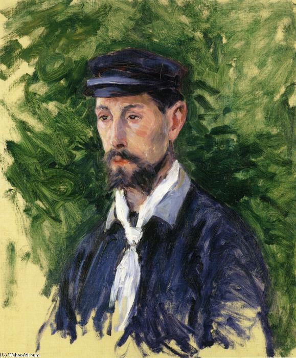 famous painting Bust Portrait of Eugene Lamy of Gustave Caillebotte