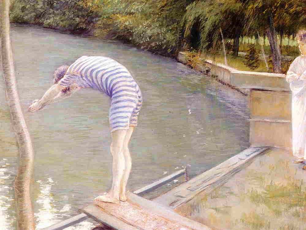 famous painting The Bather, or The Diver of Gustave Caillebotte