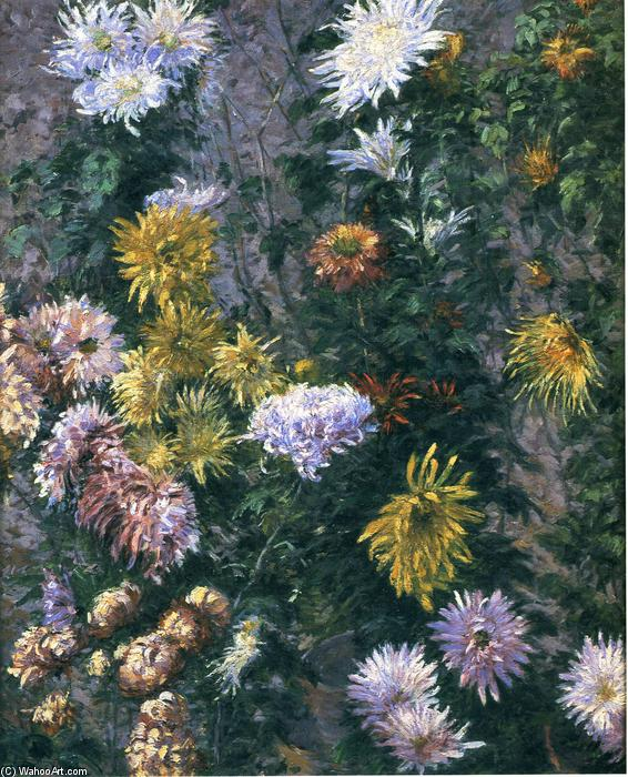 famous painting White and Yellow Chrysanthemums of Gustave Caillebotte