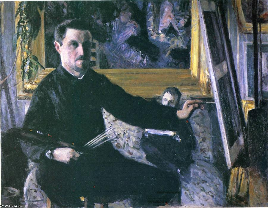 famous painting Self-Portrait with an Easel of Gustave Caillebotte