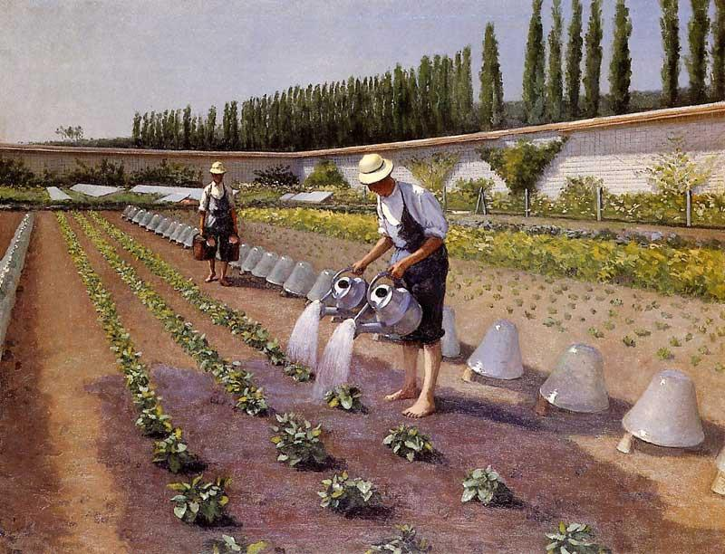 famous painting The Gardeners of Gustave Caillebotte