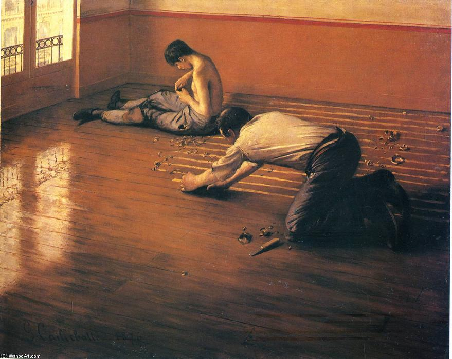 famous painting The Parquet Planers of Gustave Caillebotte