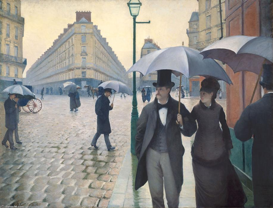 famous painting Paris, a Rainy Day of Gustave Caillebotte