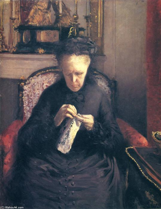 famous painting Portrait of Madame Martial Caillebotte of Gustave Caillebotte