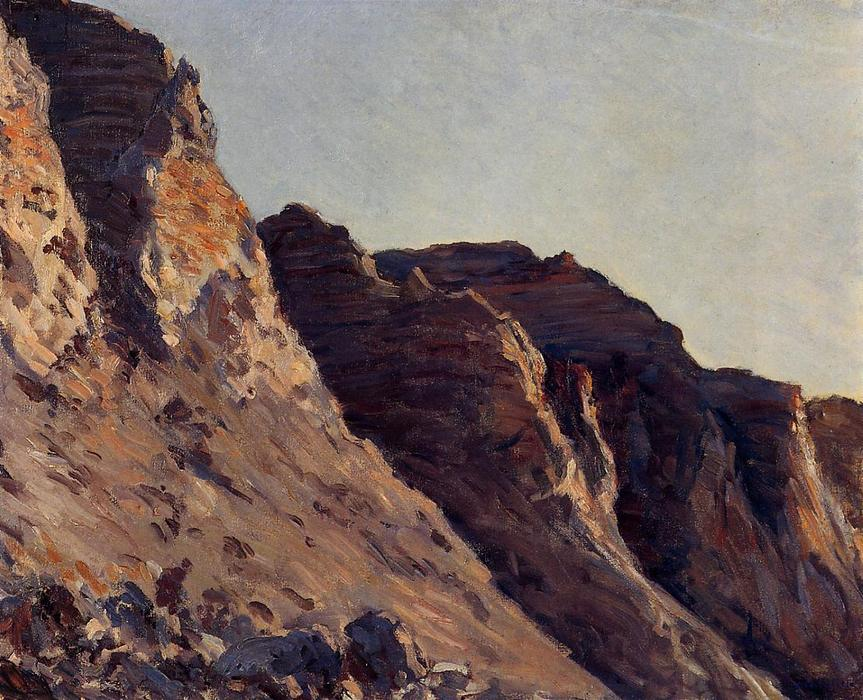 famous painting Cliff at Villers sur Me of Gustave Caillebotte