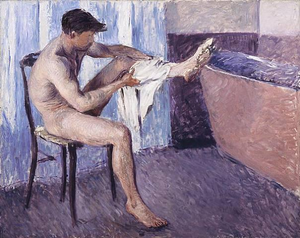 famous painting Man drying his leg of Gustave Caillebotte