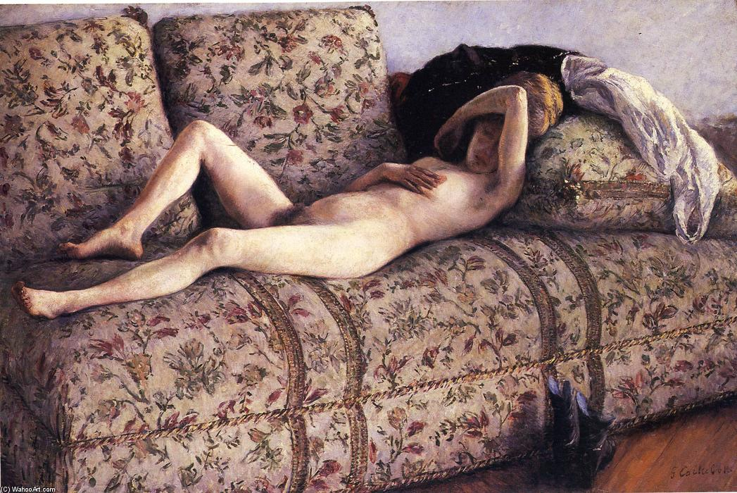 famous painting Nude on a Couch of Gustave Caillebotte