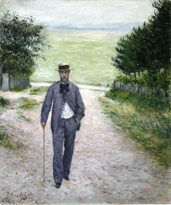 famous painting By the Sea of Gustave Caillebotte