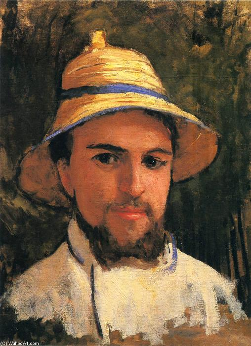 famous painting Self-Portrait with Pith Helmet of Gustave Caillebotte