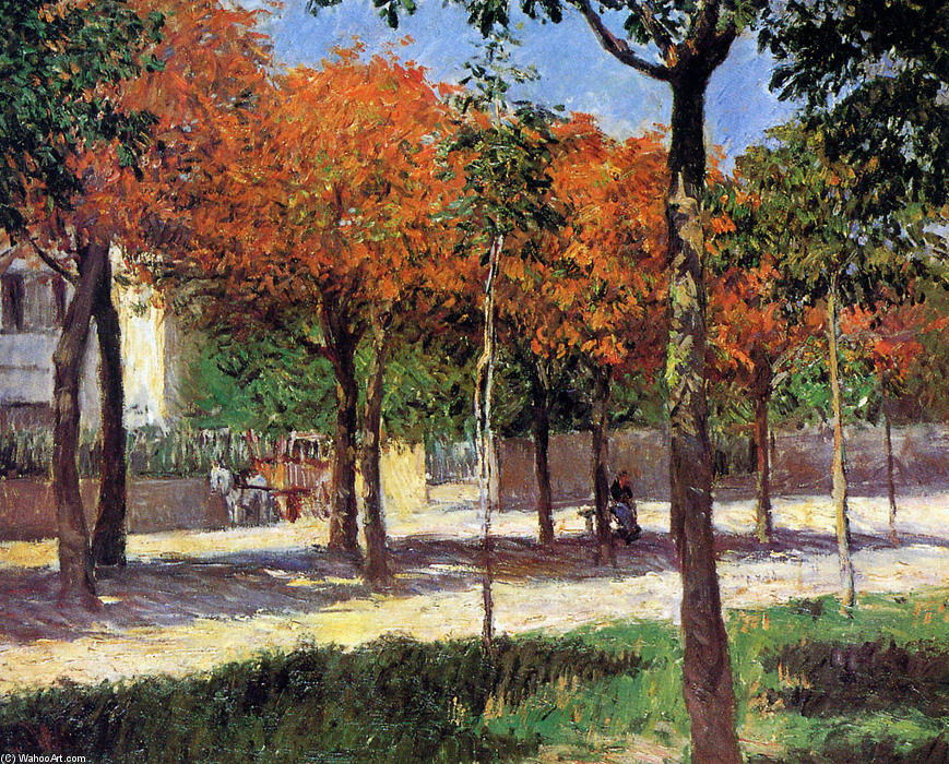 famous painting Square in Argenteuil of Gustave Caillebotte