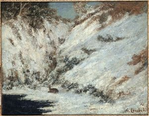 Gustave Courbet - Snow Landscape in Jura