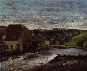 Gustave Courbet - TA The Loue Valley